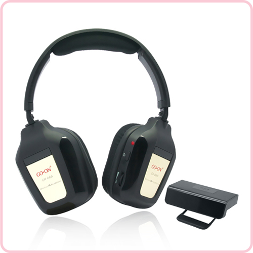 GH-666 Home wireless headphone with special transmitter and RF/UHF system