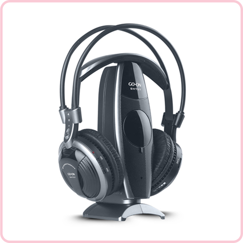 GH-757 Unique design wireless headphone for TV,DVD,PC with 80M operation range