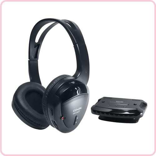 Wired earphones with microphone - Sharper Image TV Wireless Headphones - headphones Overview