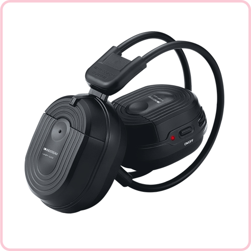 Crystal sound RF wireless audio headphone for car