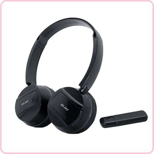 GD-243 2.4G wireless headphone with classic design and cheap price