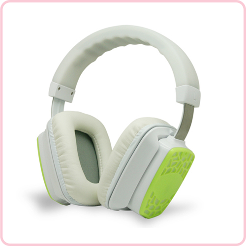 RF-609 (White)  High end silent disco headphone with hifi stereo sound