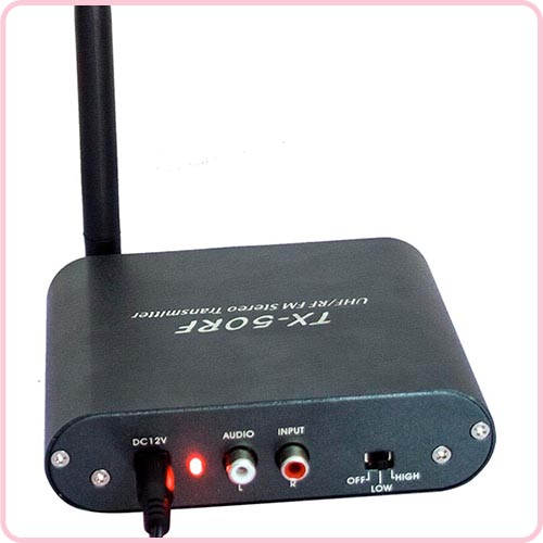TX-50RF High performance wireless silent disco transmitter with 500m range