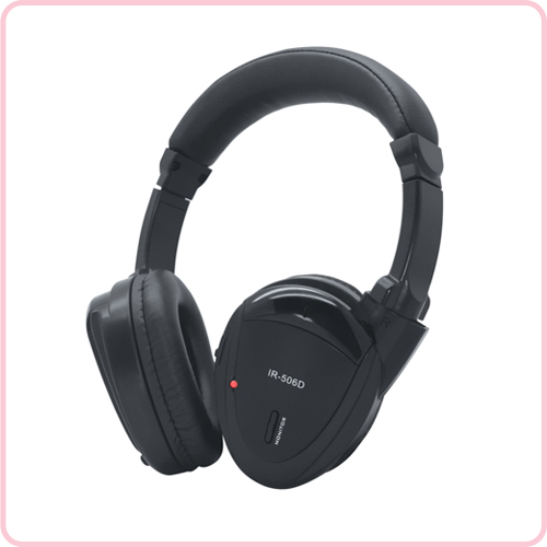 IR-506D Dual-Channel Foldable Wireless Infrared Headphone