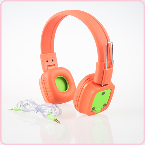 Custom logo promotional headphone with CE ROHS FCC approval